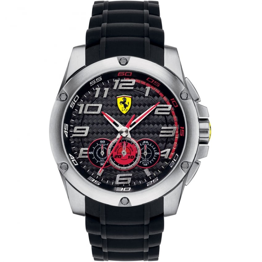 Men's Paddock Rubber Chronograph Watch 0830088