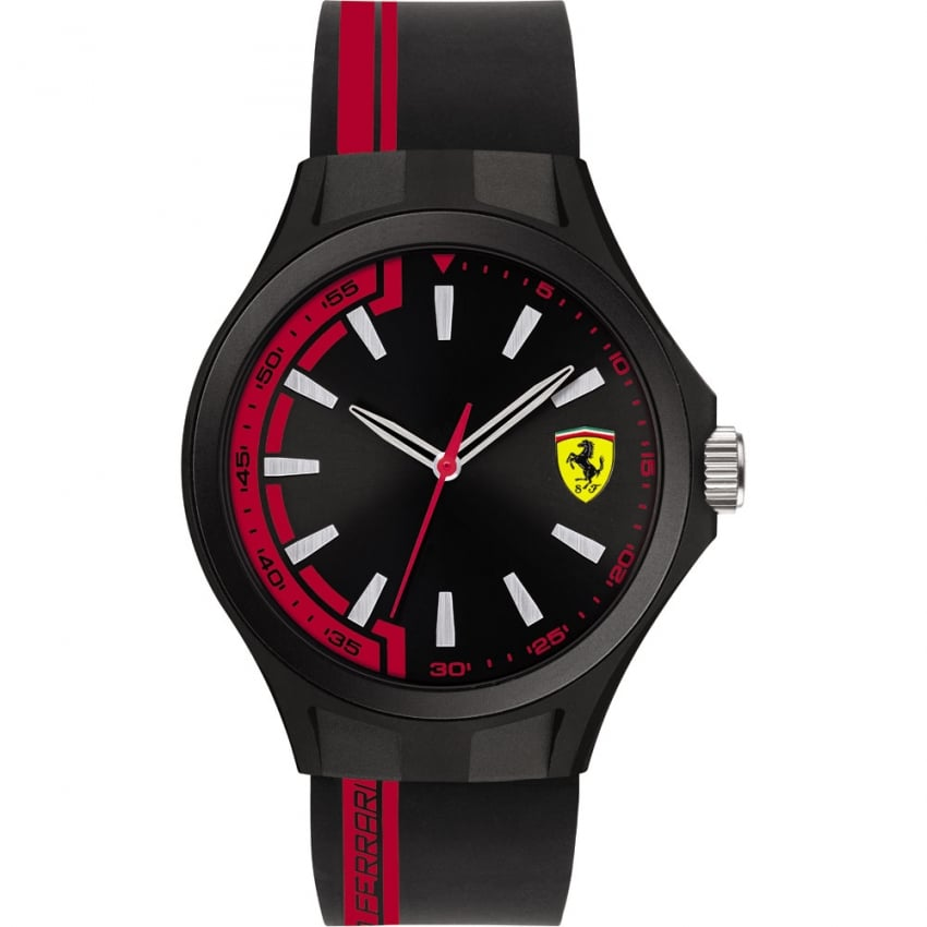 Scuderia Ferrari Men's Pit Crew Black/Red Strap Watch 0830367