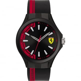 Men's Pit Crew Black/Red Strap Watch