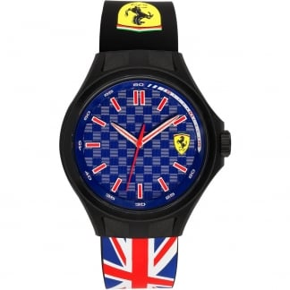 Men's Pit Crew Union Jack Strap Watch