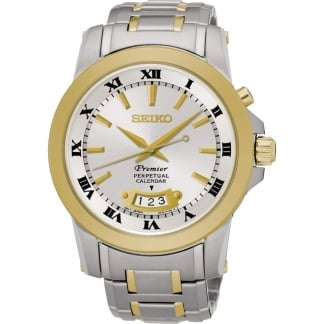 Men's Premier Two Tone Perpetual Calendar Watch