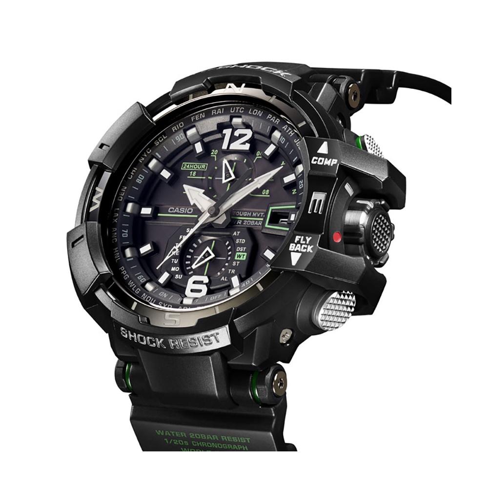 buy the men s casio gw a1100 1a3er watch francis gaye jewellers men 039 s premium gravity defier g shock watch