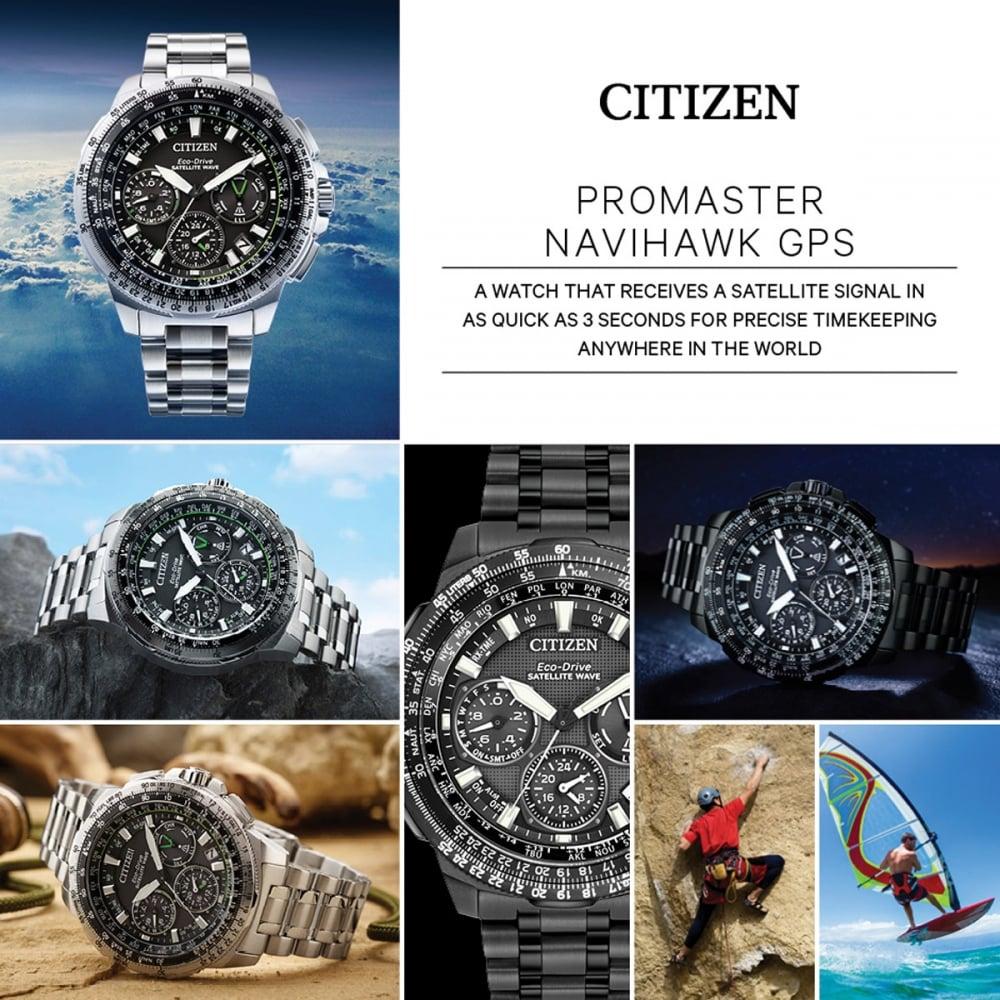 12d95340a47 Citizen Men s Promaster Navihawk GPS Satellite Wave Watch - Watches ...