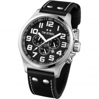 Men's 45MM Pilot Chronograph Quartz Watch TW412