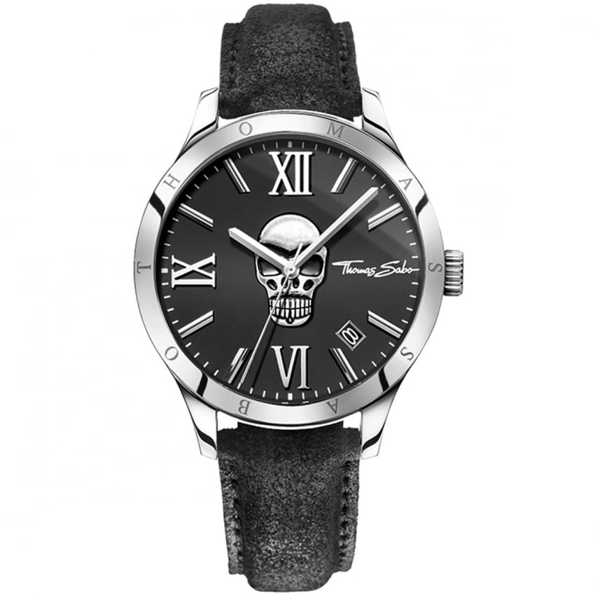 Thomas Sabo Men's Rebel Icon Skull Watch WA0210-218-203-43