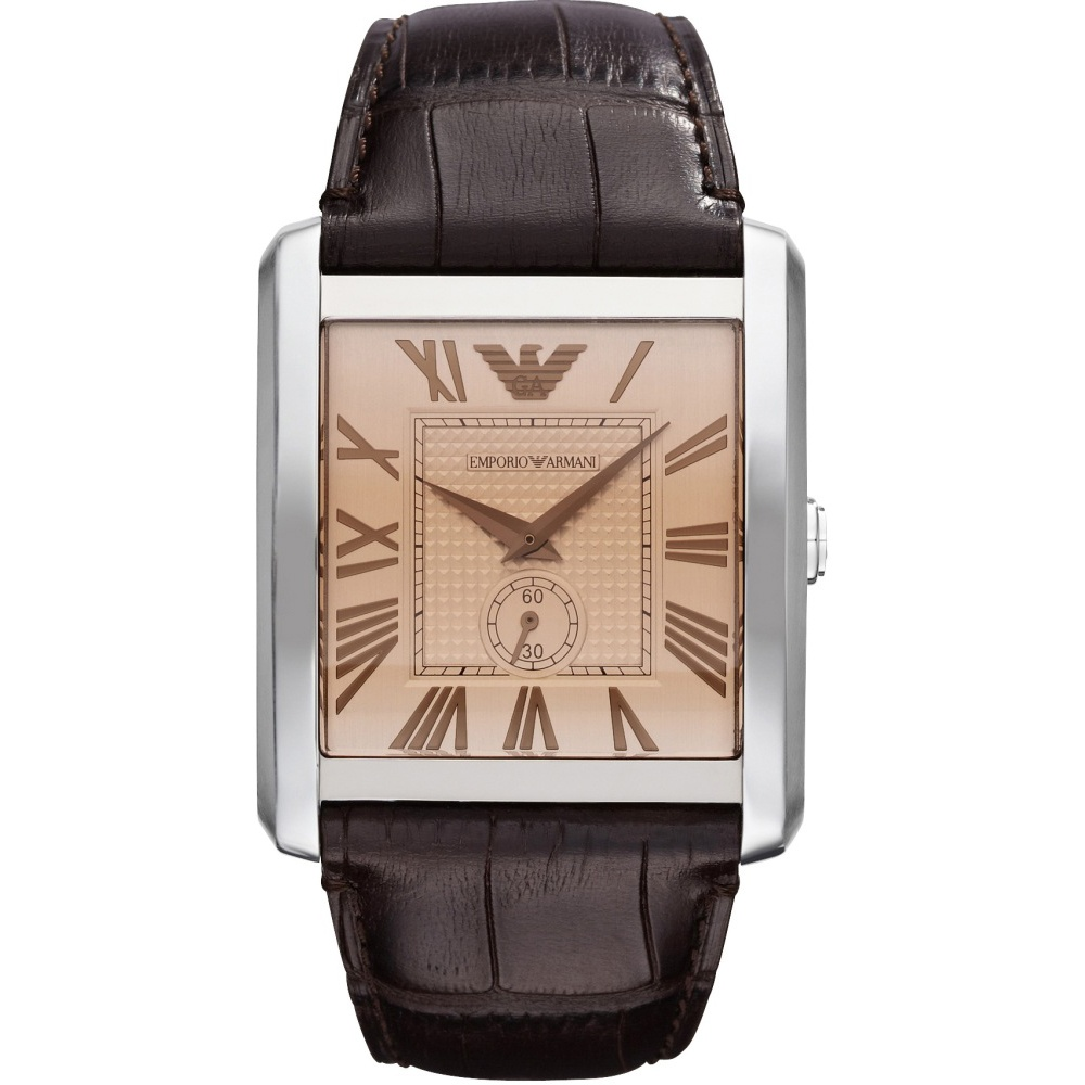 watches black armani watch rectangular emporio