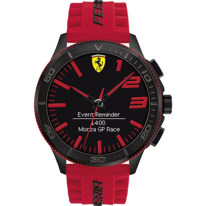 Scuderia Ferrari Men's Red Strap Bluetooth Smartwatch 0830376