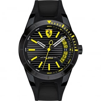 Men's RedRev Black Silicone Strap Watch