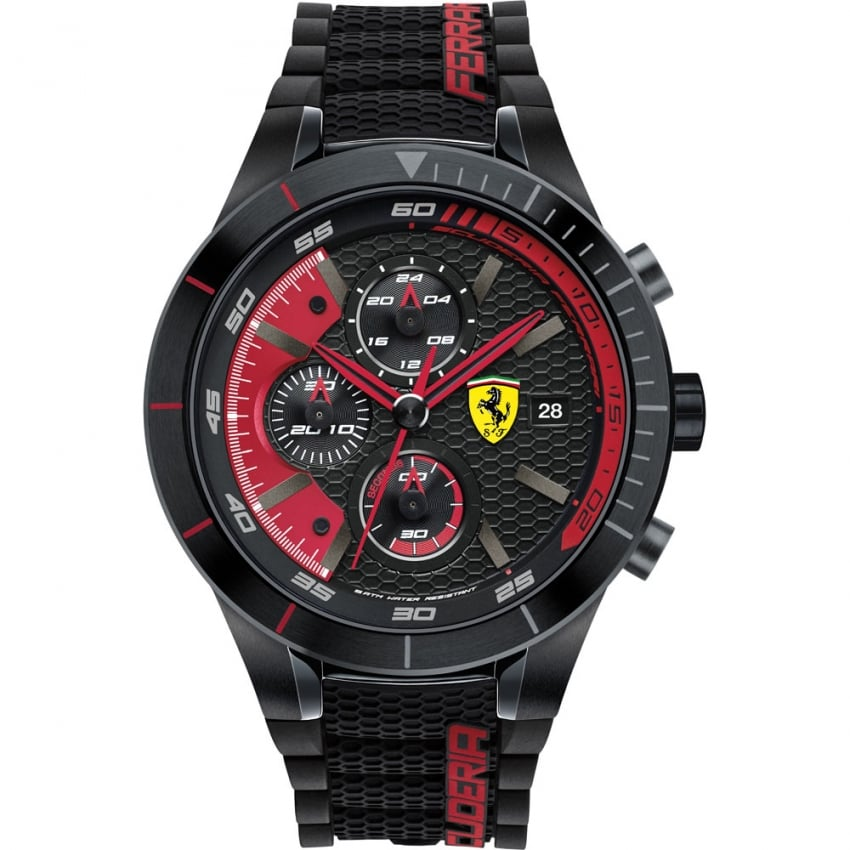 Men's RedRev Evo Black/Red Chronograph Watch 0830260