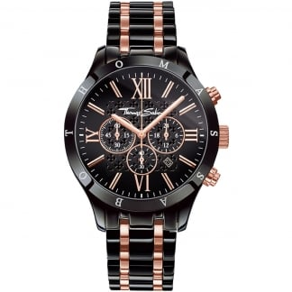 Men's Rose Gold Detail Chronograph Rebel Watch