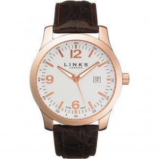 Men's Rose Plated Capital Swiss Watch 6080.0356