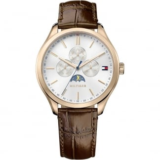 Men's Rose Gold Oliver Moonphase Display Watch