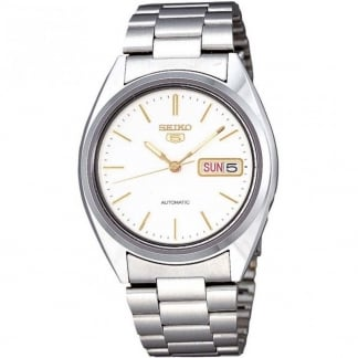 Men's 'Seiko 5' Automatic Day/Date Watch