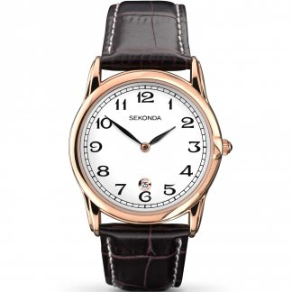 Men's Classic Rose Gold Tone Quartz Watch