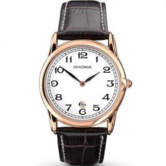 Men's Classic Rose Gold Tone Quartz Watch 1012