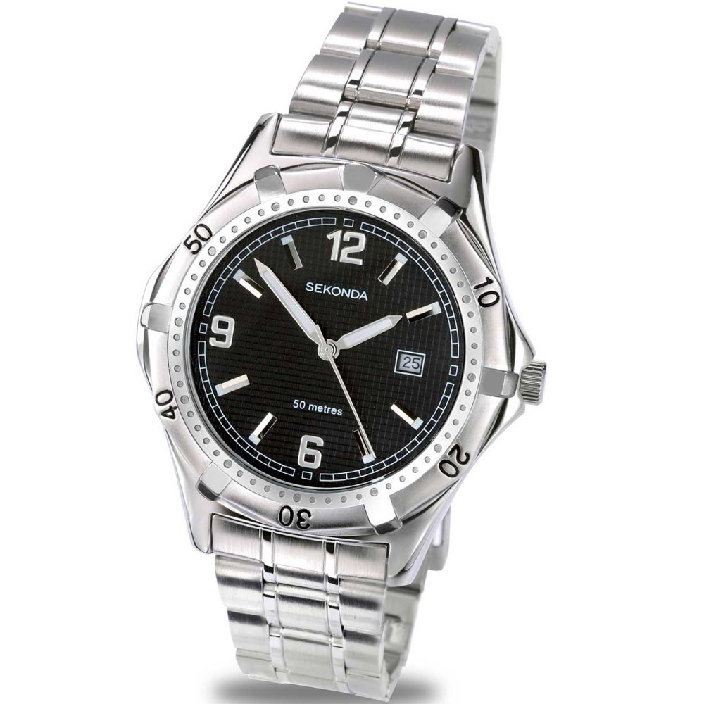 sekonda s quartz stainless steel sports
