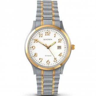 Men's Stylish Two Tone Bracelet Watch 3356