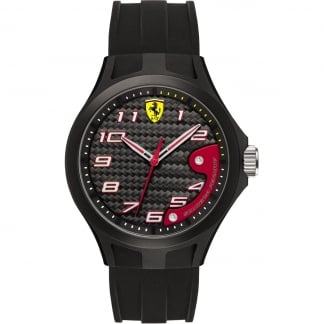 Men's Silicone Black Lap Time Watch