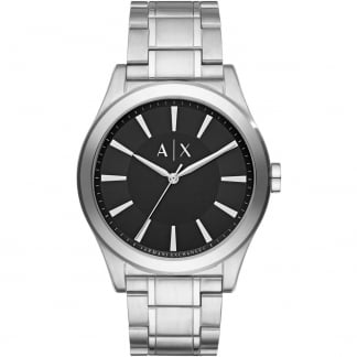 Men's Silver Tone Bracelet Watch