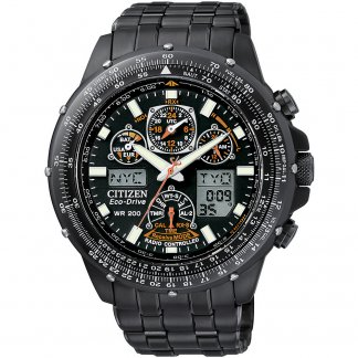 Men's Skyhawk A.T Radio Controlled Eco-Drive Watch JY0005-50E