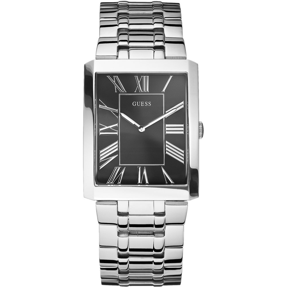 men s guess w85032g2 authrised uk watch shop francis gaye guess men s slim classic silver bracelet watch w85032g2