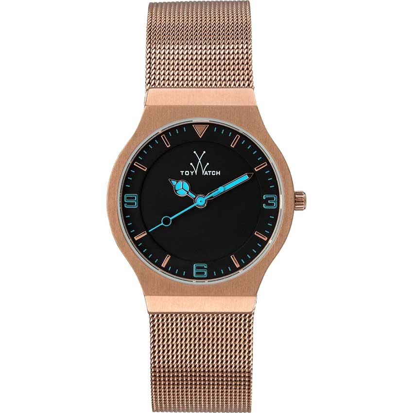 ToyWatch Men's Slim Rose Gold Mesh Watch MH01PG
