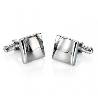 Men's Soft Crease Shaped Steel Cufflinks V453