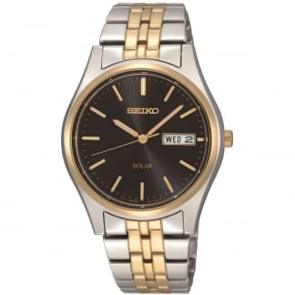 Men's Solar Powered Two Tone Day/Date Watch