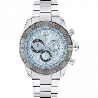 Men's SportRacer Crystal Blue Dial Chronograph Watch Y02005G7