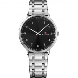 Men's Stainless Steel Black Dial James Watch