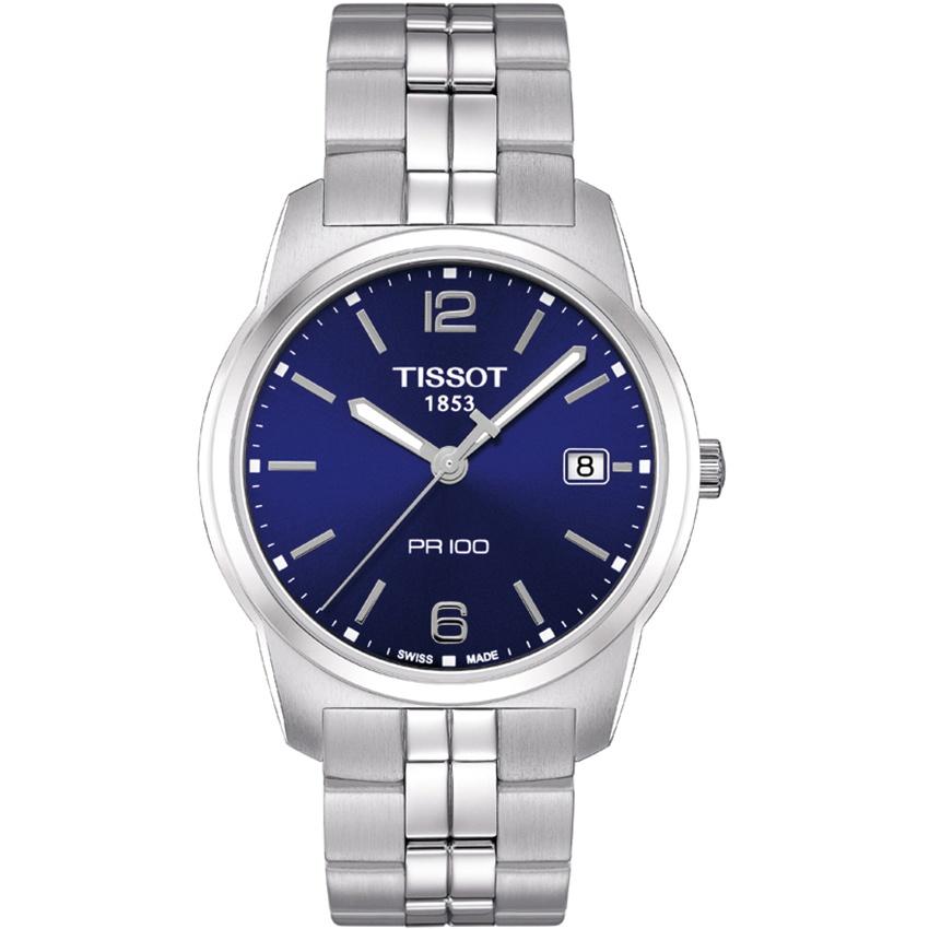 Tissot Men's All Steel Blue Dial PR 100 Gent Watch T049.410.11.047.01