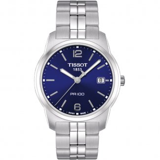 Men's All Steel Blue Dial PR 100 Gent Watch T049.410.11.047.01