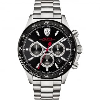 Men's' Steel Pilota Chronograph Watch