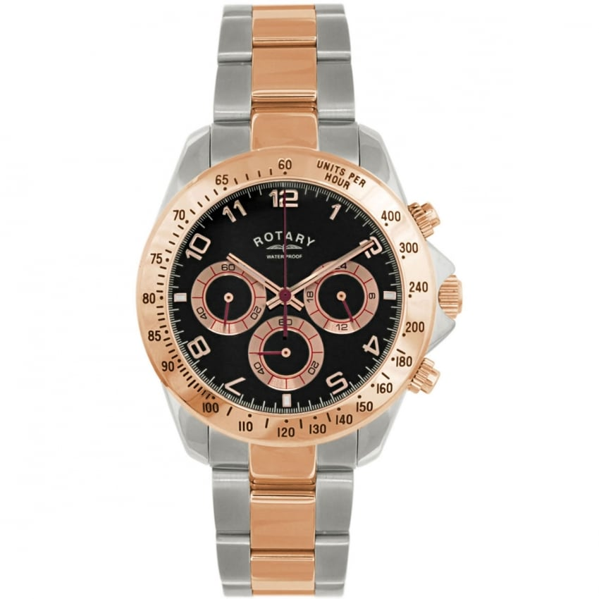 Rotary Men's Steel & Rose Gold Chronograph Watch GB00010/04