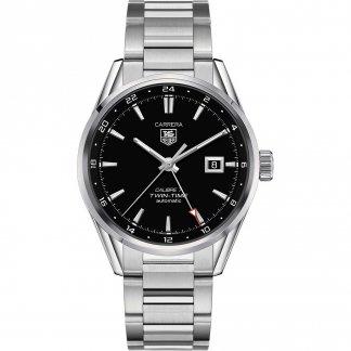 Men's Calibre 7 Twin Time Automatic Carrera Watch WAR2010.BA0723