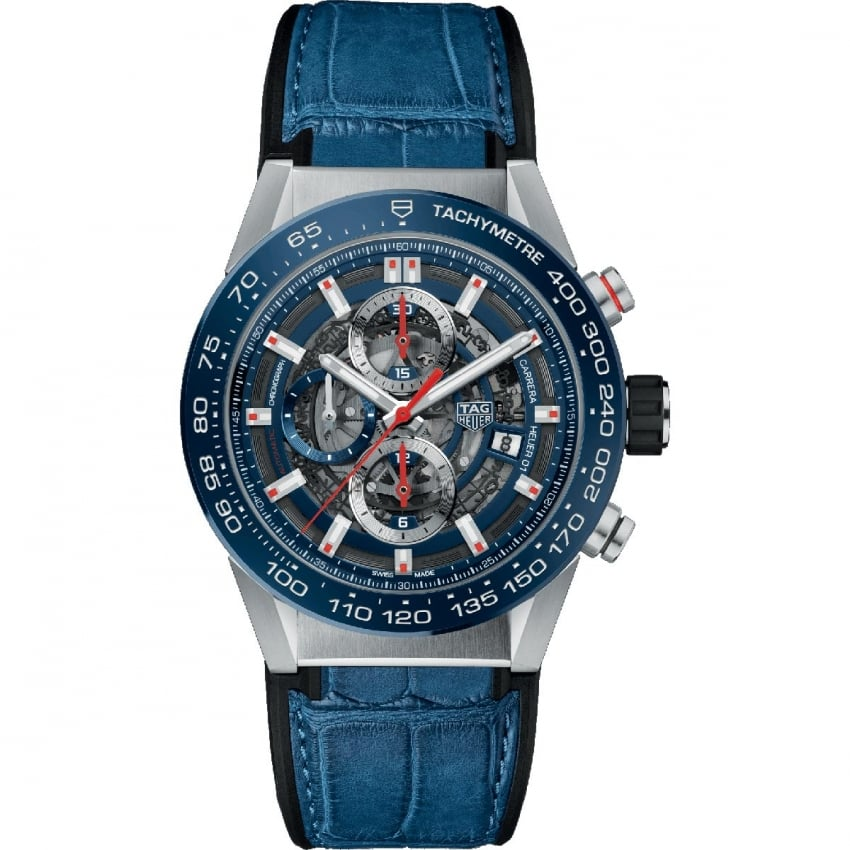 TAG Heuer Men's Carrera Heuer-01 43mm Automatic Chronograph Watch CAR201T.FC6406