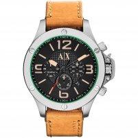 Armani Exchange Men's Tan Leather Chronograph Watch AX1516