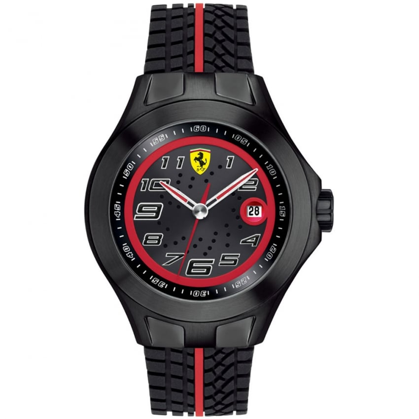 Men's Textures of Racing Watch with Rubber Strap 0830027