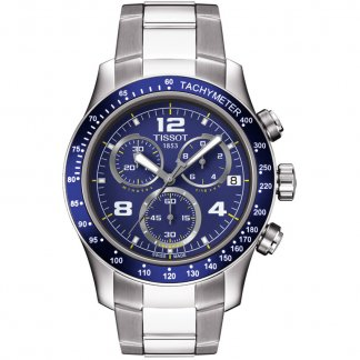 Men's V8 Blue Dial Chronograph Bracelet Watch T039.417.11.047.02