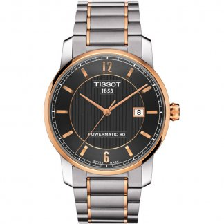 Men's Titanium Automatic Steel & Rose Gold Watch T087.407.55.067.00