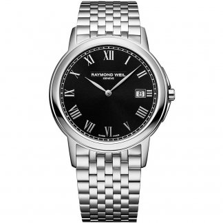 Men's Tradition Black Dial Steel Bracelet Watch 5466-ST-00208