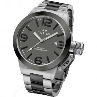 Men's Canteen Steel & Black Bracelet Watch