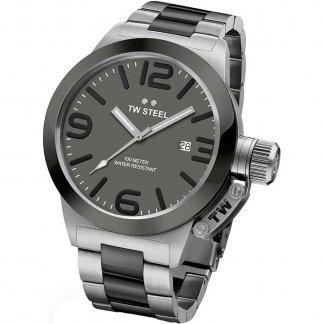 Men's Canteen Steel & Black Bracelet Watch CB201