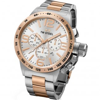 Men's Canteen Bracelet Two Tone Chronograph Watch