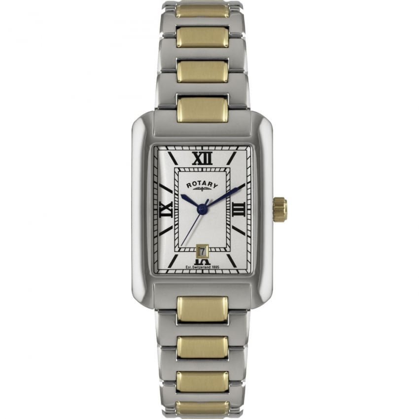 Rotary Men's Two Tone Bracelet Watch With Date GB02651/01