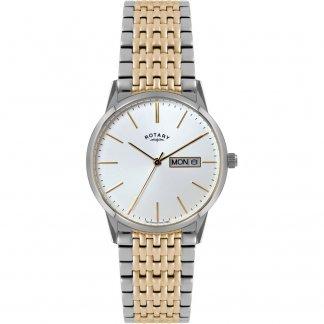 Men's Two Tone Day/Date Quartz Bracelet Watch GB02751/03
