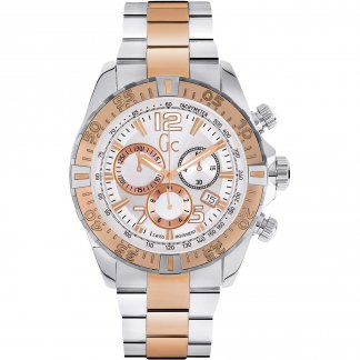 Men's Steel & Rose Gold SportRacer Watch Y02006G1