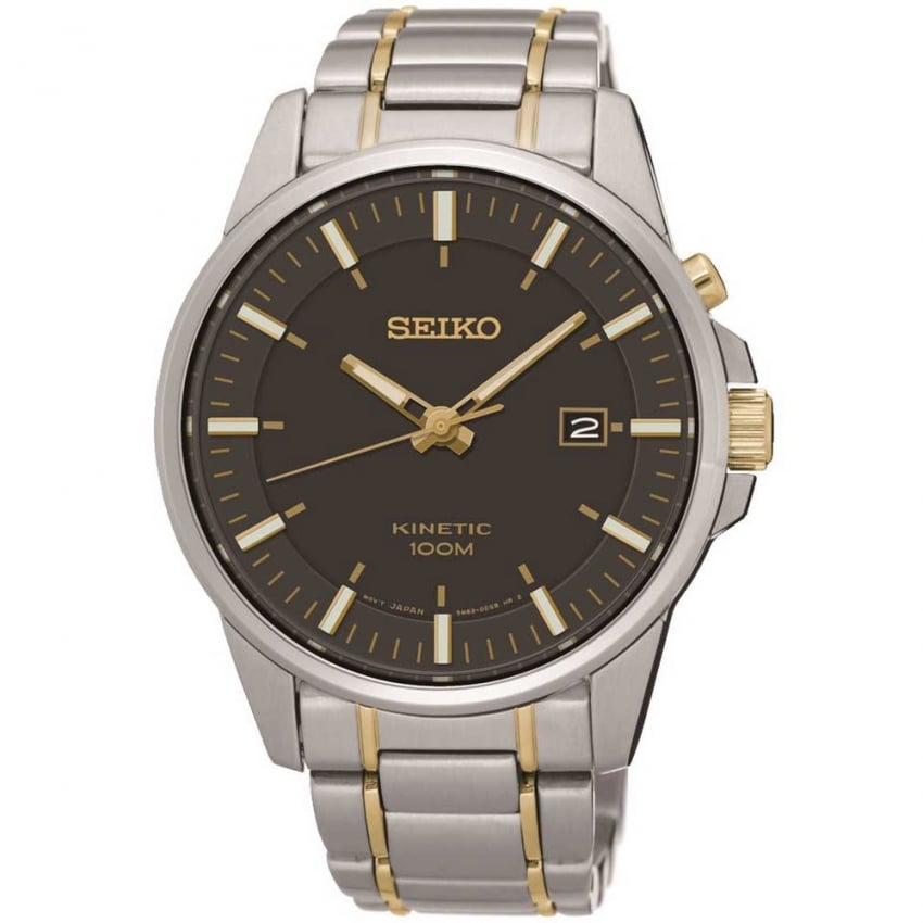 Seiko Men's Two Tone Kinetic Watch With Date SKA735P1
