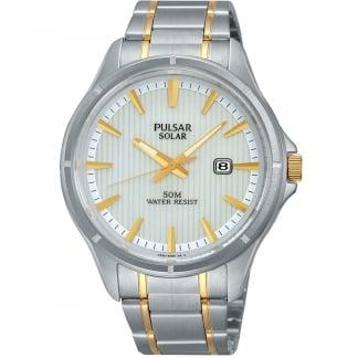 Men's Two Tone Solar Watch PX3047X1