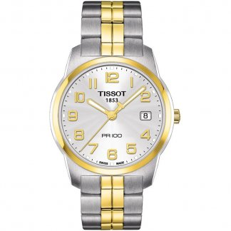 Men's Two Tone PR 100 Swiss Quartz Watch T049.410.22.032.01